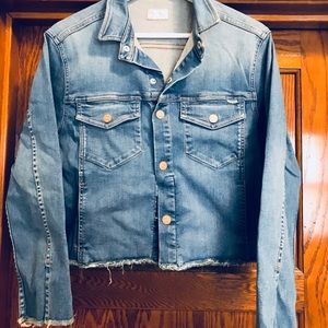 NWOT cropped Mother denim jacket - Small